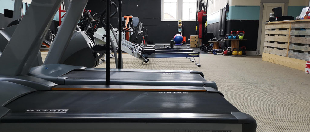 Fit Bodies gym floor showing exercise equipment
